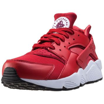 Mens Nike Air Huarache Synthetic & Textile Red Branded Footwear Shoes Trainers