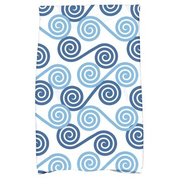E by Design Intercoastal Waterway Rip Curl Hand Towel - Bath Towels at Hayneedle