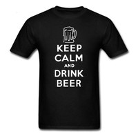Keep Calm And Drink Beer - Drinking T-shirt