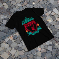 "THE SAMPLE size of the print image on the T-Shirt 12""x16"" Liverpool"