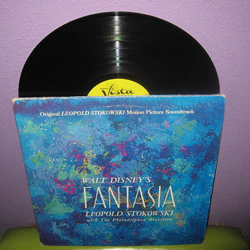 Vinyl Record Album Disney's Fantasia Original Soundtrack Triple LP 1957 Children's Classics Leopold Stokowski