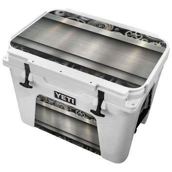 Metallic Timing Gears Skin for the Yeti Tundra Cooler