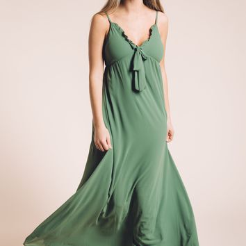 When Summer Comes Maxi Dress in Green