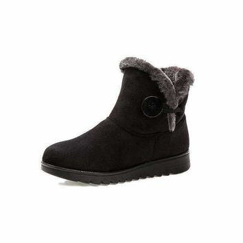 Bella Button Fur Lined Creeper Boots