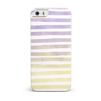Purple to Yellow WaterColor Ombre Stripes INK-Fuzed Case for the iPhone 5/5S/SE