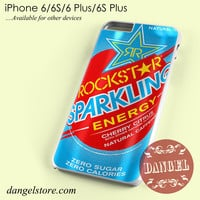rockstar energy drink blue sparkling Phone case for iPhone 6/6s/6 Plus/6S plus