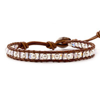 Chan Luu Birthstone Single Wrap Bracelet June - Pearl