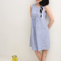 Linen tunic dress Women linen clothing Women Gathered dress Pregnancy dress Maternity clothes dress Summer linen dress