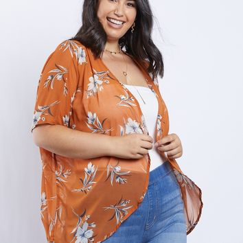 Plus Size Camille Aloha Sheer Top