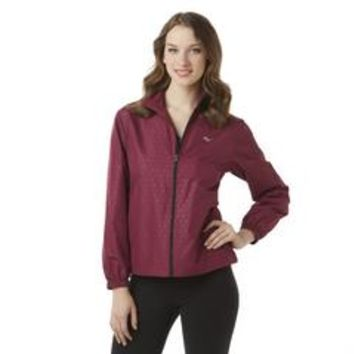 Women's Athletic Windbreaker Jacket - Geometric - Sears