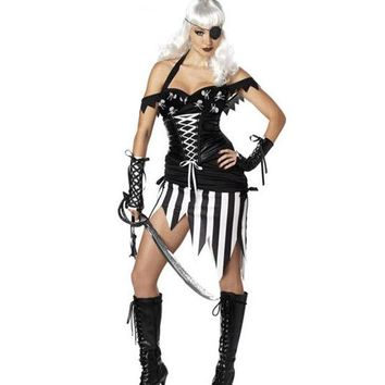 VLX2WL Halloween Party Pirate Costume [8978900231]