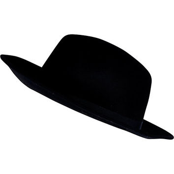 River Island Womens Black fedora hat