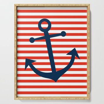Nautical Anchor Serving Tray by allisone