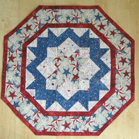 Quilted Table Topper - Americana Patriotic 296