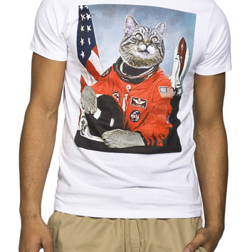 Guys 'Astronaut Kitty' Graphic Tee