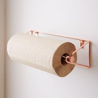 Copper Wire Kitchen Paper Towel Rack