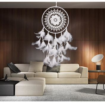 1 Piece New Boho Style Dream Catcher With Feathers Wall Hanging Decoration Handmade Ornament Craft Gift P20