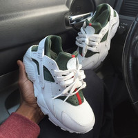 Nike Gucci Drops the Air Huarache Ultra Sports shoes White&green
