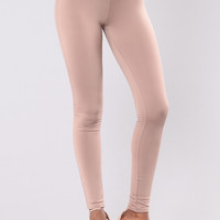Where My Girls At? Leggings - Light Mocha