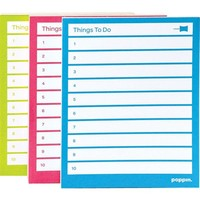 Poppin Assorted Pool/Lime/Pink Set of 3 Task Pads | Staples