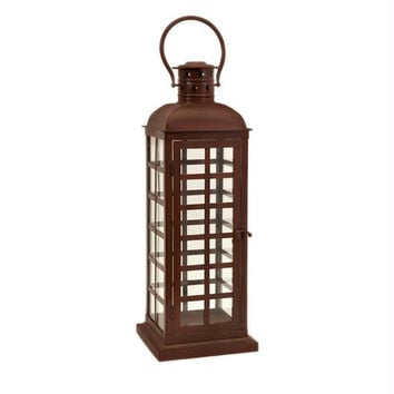 Pillar Candle Lantern - Red
