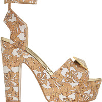 Nicholas Kirkwood - Laser-cut cork and faille sandals