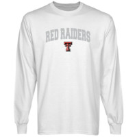Texas Tech Red Raiders White Logo Arch Long Sleeve T-shirt-