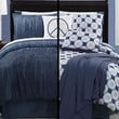 13pc Logan Blue/ White Bed Super Set