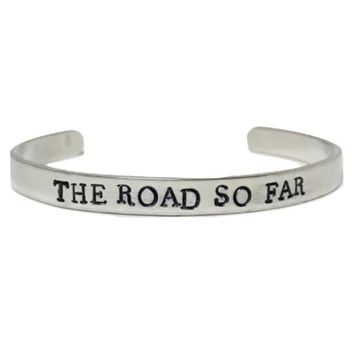 Supernatural Hand Stamped The Road So Far Cuff Bracelet
