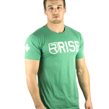 CLASSIC SHIRT (Green) - Rise Gym Gear