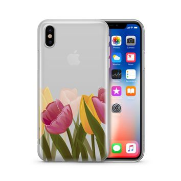 Tulips - Clear TPU Case Cover