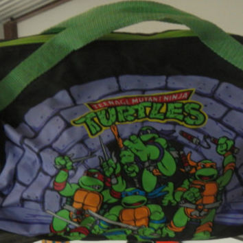 Vintage 1989 TMNT Teenage Mutant Ninja Turtles Duffle Bag