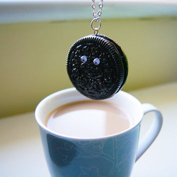 Oreo Necklace by CraftyTeapot on Etsy