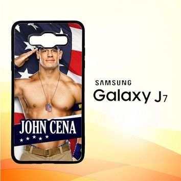 John Cena Flag W3176 Samsung Galaxy J7 Edition 2015 SM-J700 Case