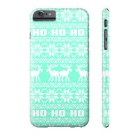 Mermaid Mint Turquoise Ugly Xmas Holiday Pattern Phone Case