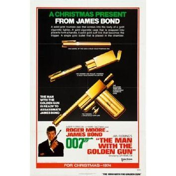 Man With The Golden Gun Movie poster Metal Sign Wall Art 8in x 12in