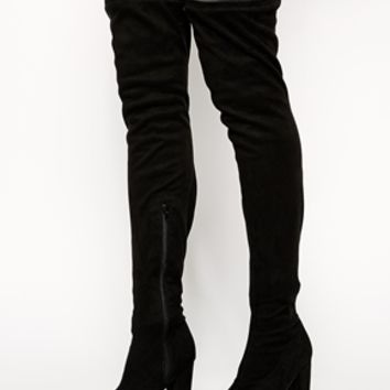 ASOS KISS OF LIFE Over the Knee Ankle Boots