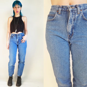 80s Clothing Bill Blass Jeans Vintage 80s Jeans Mom Jeans Fitted High Waisted Jeans Blue Jeans High Rise High Waist Jeans Size 6L 27 Waist