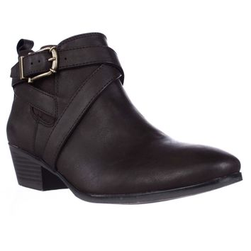 SC35 Harperr Ankle Booties, Chocolate, 8.5 US