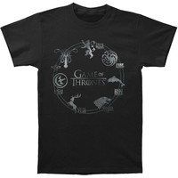 Game Of Thrones Men's  Sigil T-shirt White Rockabilia