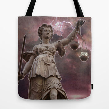 Justice . Justice for all Tote Bag by Barruf