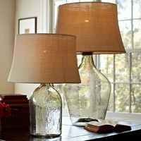 CLIFT GLASS TABLE LAMP BASE - CLEAR