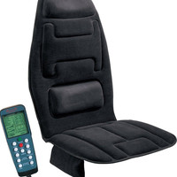 Comfort Products 60-2910 10-Motor Vibration Massage Seat Cushion with Heat Bl...