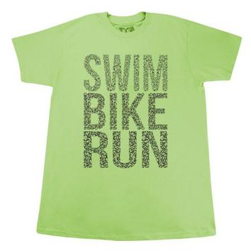 Tyr Men's Swim Bike Run Graphic Tee