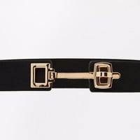 Black Gold Metal Accent Belt