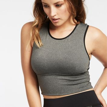 Michi Ignite Crop Top - Grey