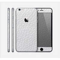 The White Leather Texture Skin for the Apple iPhone 6 Plus
