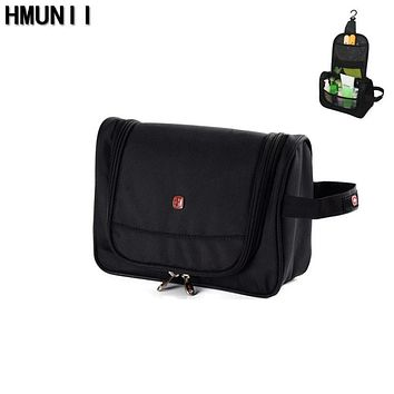 HMUNII Brand Men Women Travel Wash Toiletry Cosmetics Bag MakeUp Organizer Shaving Kit Large Capacity Multifunction Storage Bag