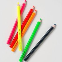 Fluorescent Pencil Set by Anthropologie Multi One Size House & Home