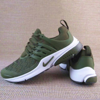 NIKE Air Presto Woman Men Running Sneakers Sport Shoes Army green G-A36H-MY